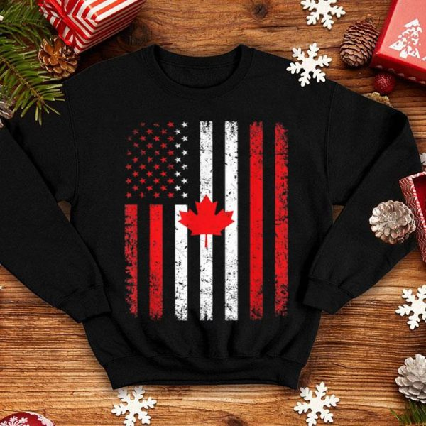 Canada Flag For 4th July USA Canadian Flag Happy Independence Day And Canada Day shirt