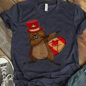 Canadian Beaver Dabbing Maple Leaf Shirt