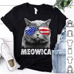 Cat 4th Of Julys Meowica Merica Usa American Flag Shirt