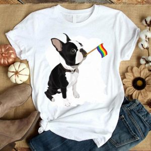 Gay Pride Flag Boston Terrier LGBT Pride Gifts Shirt