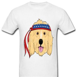 Golden Doodle 4th Of July Dog America Shirt