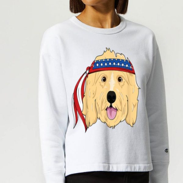 Golden Doodle 4th Of July Dog America Shirt