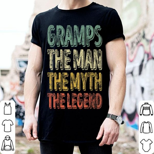 Gramps The Man The Myth The Legend Father's Day Shirt