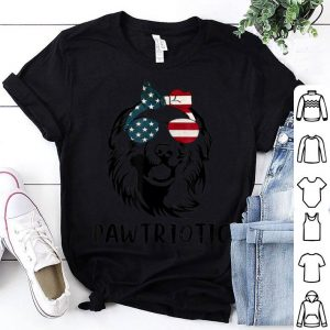 Great Pyrenees Pawtriotic With American Flag 4th Of July shirt