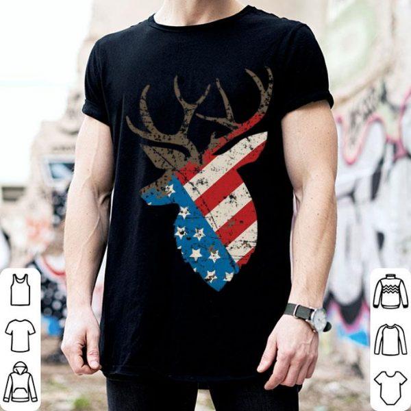Hunting Deer Skull Flag Shirt