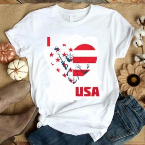 I Love USA 4th Of July American Flag Shirt