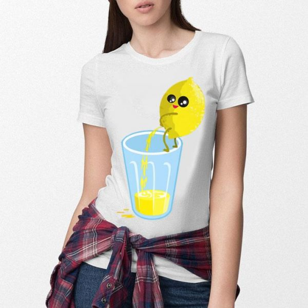 Lemon Pees In A Glass - Funny Fruits And Vegetables Vintage Premium Shirt