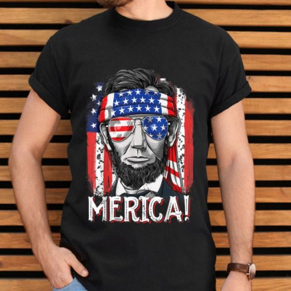 Lincoln 4th Of July Boys Merica American Flag Gifts Shirt