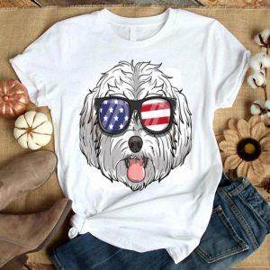 Maltipoo Dog Patriotic Usa 4th Of July American Cute Gift Shirt