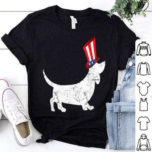 Patriotic American Dachshund 4th Of July Uncle Sam Shirt