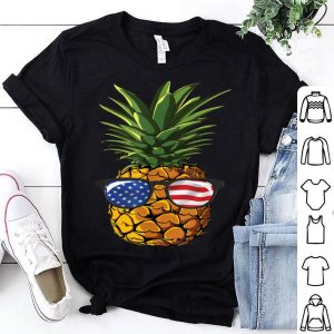 Pineapple Sunglasses 4th Of July Aloha Beaches shirt