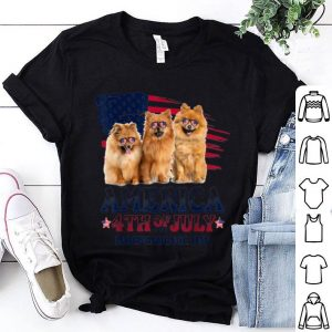 Pomeranian America 4th Of July Independence Day shirt