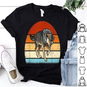Retro Vintage Wolf Animal Lover Funny Gift Shirt