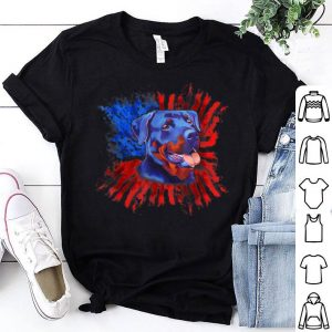 Rottweiler American Flag Usa Patriotic Splash Dog shirt