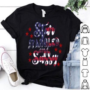 Star Spangled and Sassy American Flag design shirt