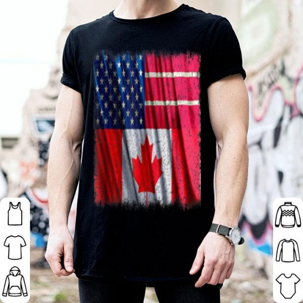 Thanks Canada American Canadian Flag USA Friendship shirt