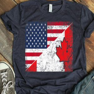 Useh Canadian Flag Usa Us Pride 4th Of July Canada Shirt