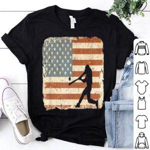 Vintage Baseball American Flag July 4th shirt