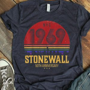 Vintage Rainbow Stonewall 1969 NYC LGBTQ Rights Gay Pride shirt