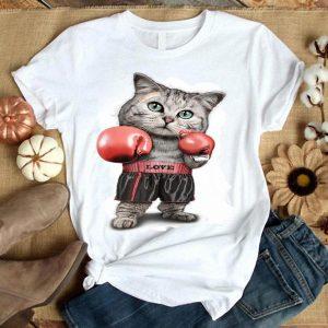 Womens Funtacy Tee Boxing Cat Shirt