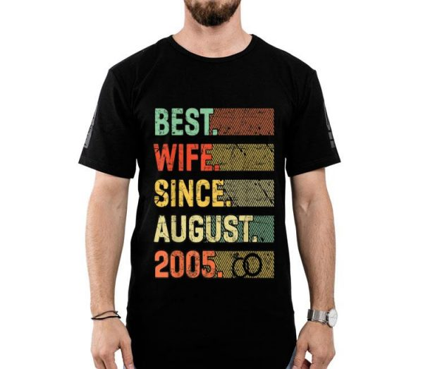 14th Wedding Anniversary Best Wife Since August 2005 shirt