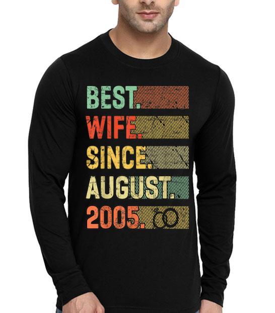 14th Wedding Anniversary Best Wife Since August 2005 shirt