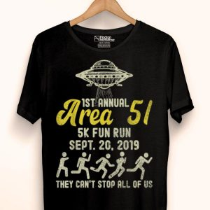 1st Annual Area 51 5K Fun Run September 20 2019 shirt