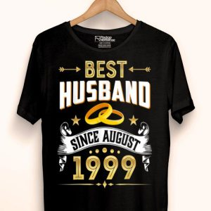 20th Wedding Anniversary Best Husband Since 1999 shirt