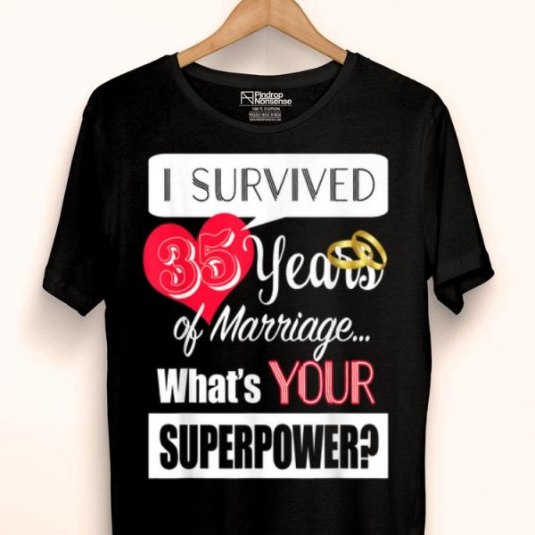 35 Year Anniversary 35th Wedding Anniversary shirt