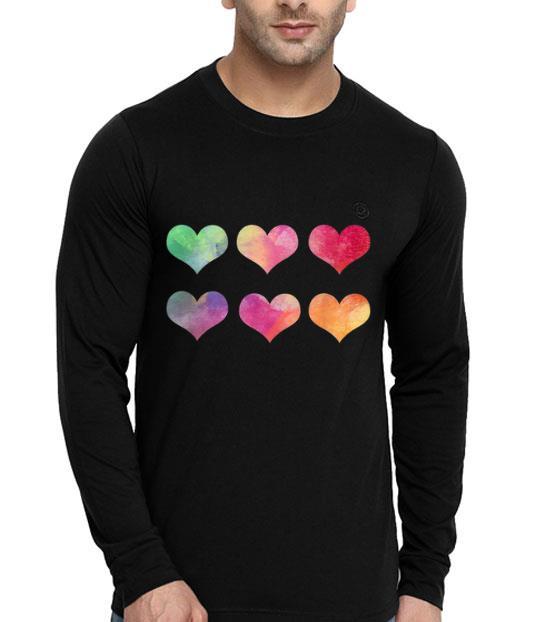 Watercolor Rainbow Hearts shirt