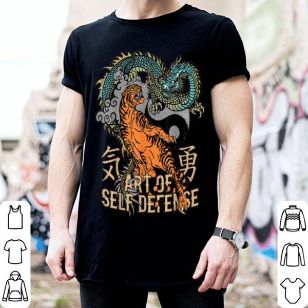 Art Of Self Defense Yin Yang Tiger and Dragon shirt