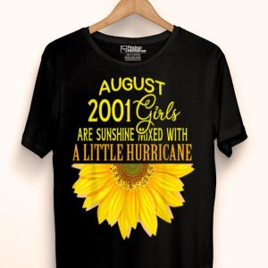 August Girls 18th Birthday Sunshine And Hurricane Sunflower shirt