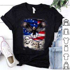 Betsy Ross Flag American Bald Eagle Mount Rushmore shirt