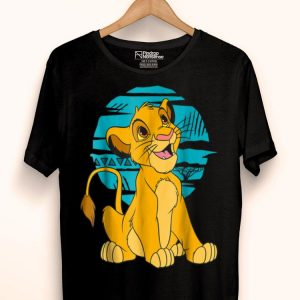 Blue Retro Disney The Lion King Young Simba Happy shirt