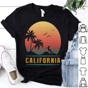 California Vintage Retro Sunset Surfing Wave Summer shirt