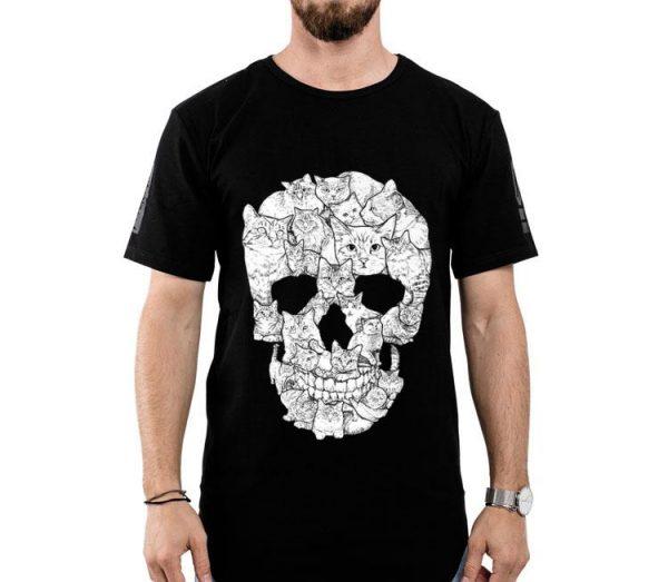 Cat Skull Sketchy Cat Lover shirt