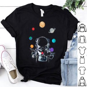 Circus Astronaut Playing With Solar System Planets shirt