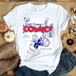 Disney Donald Duck Playing Tennis Retro Comic Cover Hat shirt