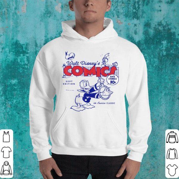 Disney Donald Duck Playing Tennis Retro Comic Cover Hat shirt