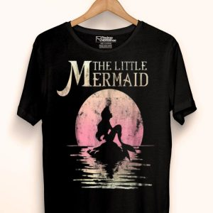 Disney The Little Mermaid Ariel Rock Moon Silhouette shirt