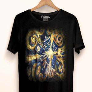 Doctor Who Art Tardis Van Gogh shirt