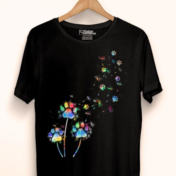 Dog Flower Colourful Dandelion Paw Dog Lover shirt