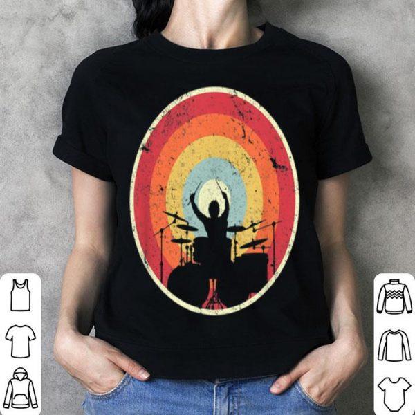 Drummer Vintage Retro Sunset Drum Player shirt