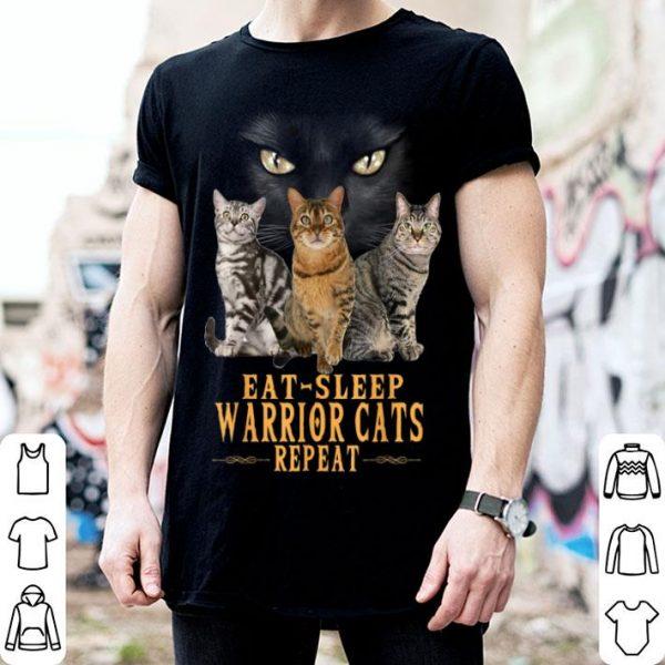 Eat Sleep Warrior Repeat Tabby Cats shirt