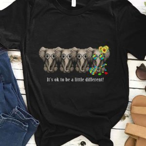 Elephant Autism It's Ok To Be A Little Different Lego Guitar shirt