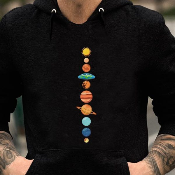 Flat Earth Society Planet Solar System Earth Is Flat shirt
