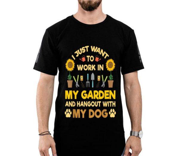 Gardening Plant Lover Garden Gardener Dog Lover shirt