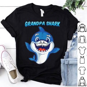 Grandpa Shark Daddy Shark Blue Shark shirt