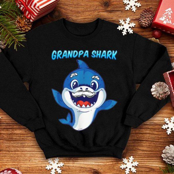 Grandpa Shark Daddy Shark Blue Shark shirt