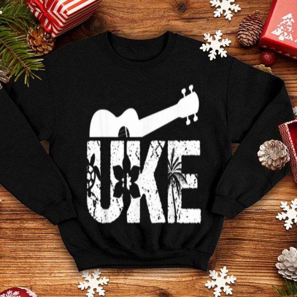 Hawaiian Ukulele Guitar Player Uke Musical Hawai Summer Vacation shirt